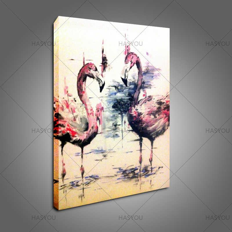 Ручная роспись маслом красивый лебедь пара картины на холсте Современный абстрактный домашний декор искусство лучший подарок настенные картины