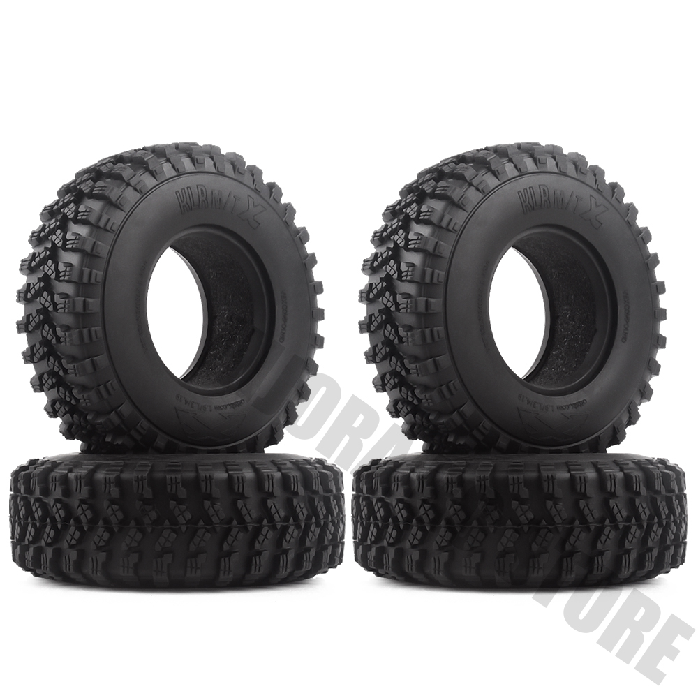 "Image 5 - 4PCS/Set Rubber 1.9"" 105*35mm Wheel Tires for 1/10 RC Crawler Truck Voodoo KLR Axial SCX10 90046 90047 RC Car Tyres-in Parts & Accessories from Toys & Hobbies"
