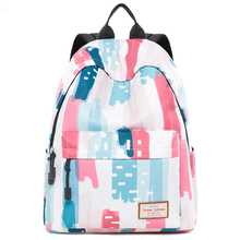 Canvas Travel Laptop Backpacks 2019 New Durable Woman College School Bag Water Repellent Daybags Graffit Printed Student Bookbag