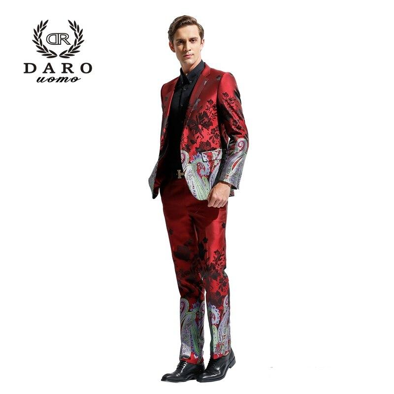 DARO 2019 costume de Blazer pour hommes Slim décontracté pantalon mariages fêtes costume de Style chinois DR8828 - 2