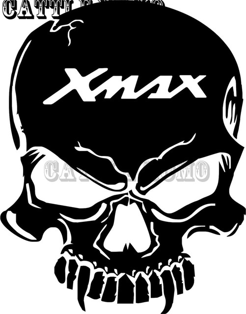 Motorcycle Tank Skull Decal Sticker For Xmax 2012 2013 2014 2015