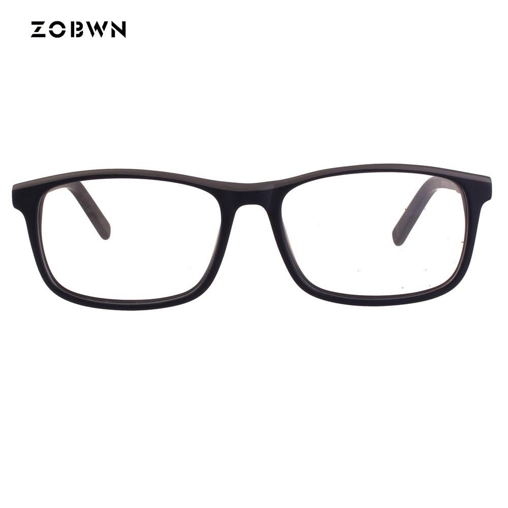 4ef6d61d92 Aliexpress.com   Buy ZOBWN Fashion glasses Frame Men Women Plain Glass  black Spectacles Vintage Safety Goggles Female Eyeglasses Frames solid color  from ...