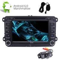 Android 6,0 система 7 сенсорный экран автомобиля стерео радио GPS FM/AM/RDS Bluetooth CD DVD проигрыватель USB SD музыкальное Зеркало Ссылка для VW камеры