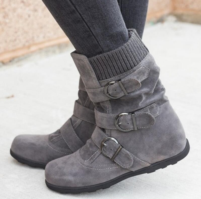 sapato-feminino-women-ankle-boots-chunky-low-heels-vintage-shoes-woman-gladiator-matte-PU-leather-rome