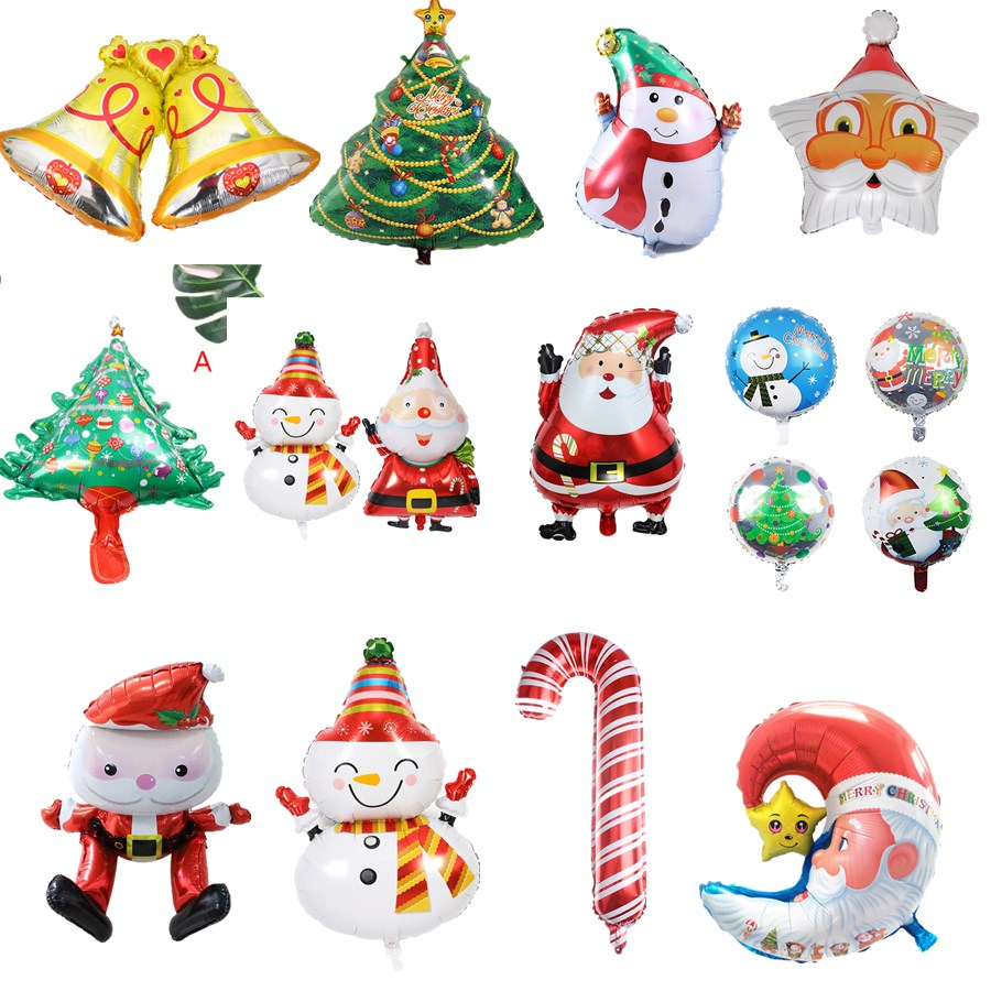 large inflatable Santa Claus Snowman Helium Foil Balloon merry ...