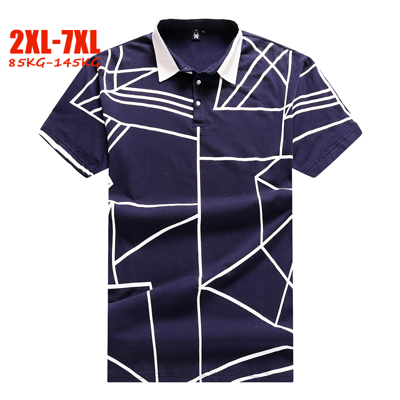 Brand 2XL-7XL Plus size   polo   shirt men Loose Summer Big men   polo   shirt 4XL 5XL 6XL 7XL mens   polo   shirts with short sleeve