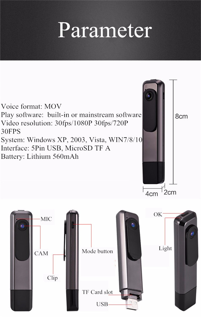 FHD 1080P Pen Voice Vedio Recorder camera 112