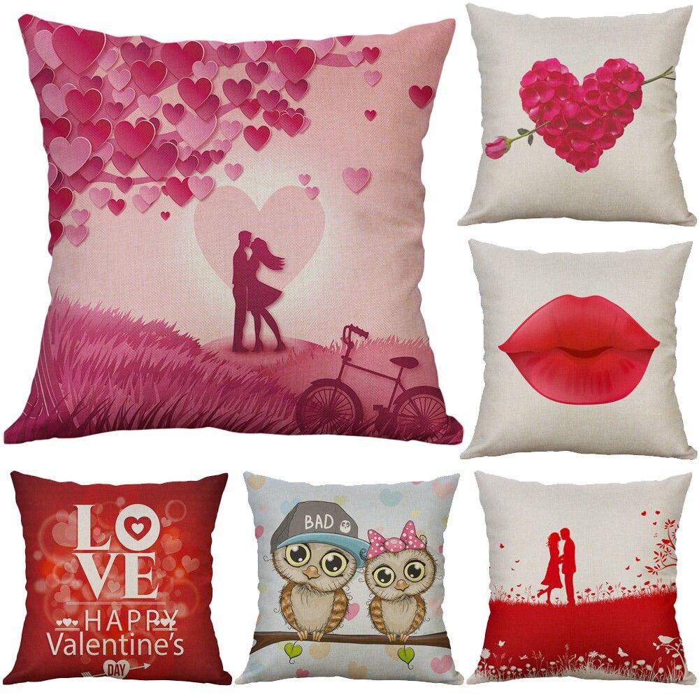 2018 Fashion Valentine's Day Throw Pillow Case Heart