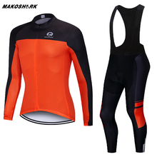 цена на 2019 Pro Team Cycling Clothes Set Men Cycling Jersey Suit Outdoor Long Sleeve Cycling Riding Bike MTB Clothing Bib Pants Set