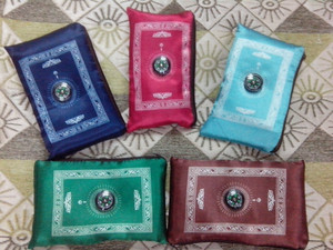 Image 1 - MA010 softy high quality smooth Travel muslim compass pocket size protable prayer mat about 110*65cm