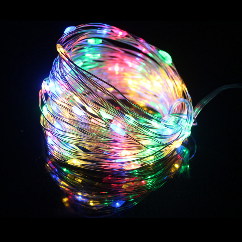 5M10M 50/100 LED Copper Wire lights battery LED string lights for christmas light festival wedding party or Home decoration lamp