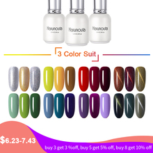 Harunouta 12ml One Step 3 in 1 Pure Soak Off UV Nail Gel Polish Colorful Red Gold Cat 3D Eye Varnish Art Manicure 3pcs Set