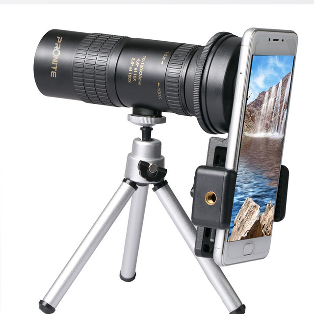 Zoom Monocular 10 100x30 Telescope HD Portable Mobile Phone Camera Telescopic Spyglass Binocular Hunting Shooting Golf Tourism
