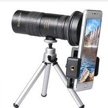 Zoom Monocular 10 100x30 telescopio HD portátil teléfono móvil Cámara telescópica Spyglass Binocular caza tiro Golf turismo