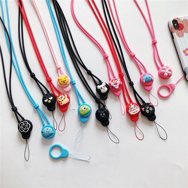 Silicone Cute Cartoon Neck Strap Lanyard For Keys ID Card Gym Mobile Phone Straps USB Badge Holder DIY Hang Rope Lariat Lanyards