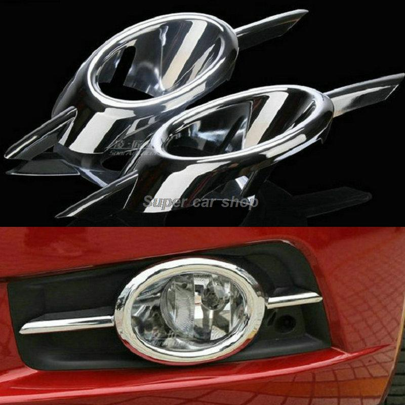 sedan hatchback ABS chromed front fog lamp cover 2pcs/set car accessories for Chevrolet Chevy Cruze 2010 2012 2013 2014