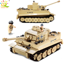 995pcs German King Tiger Tank Model Century Military Building Blocks Compatible legoingly weapon solider Brick Toys
