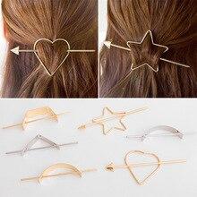 Бесплатная Доставка Простой Волос Палочки для Женщин Металл Геометрия Круг Клип Шпилька Аксессуары для волос для Девочек MR074