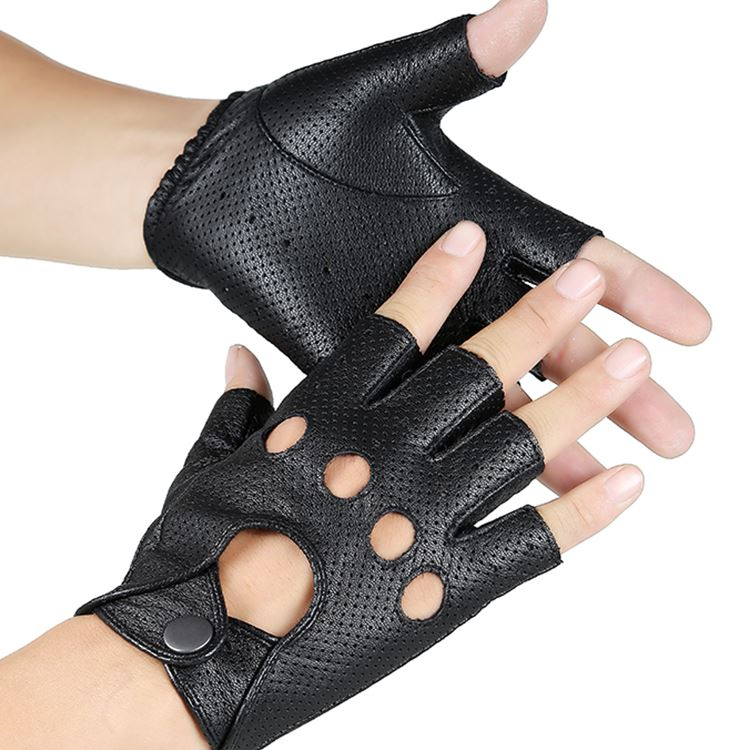 Back To Search Resultsapparel Accessories Wholesale New 2018 Hot Sale Driver Night Club Couples Gloves Gothic Punk Rock Show Genuine Leather Half Finger Fitness Gloves