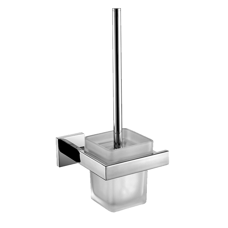 SUS 304 Stainless Steel Toilet Brush Holder with Frosted Glass Cup ...