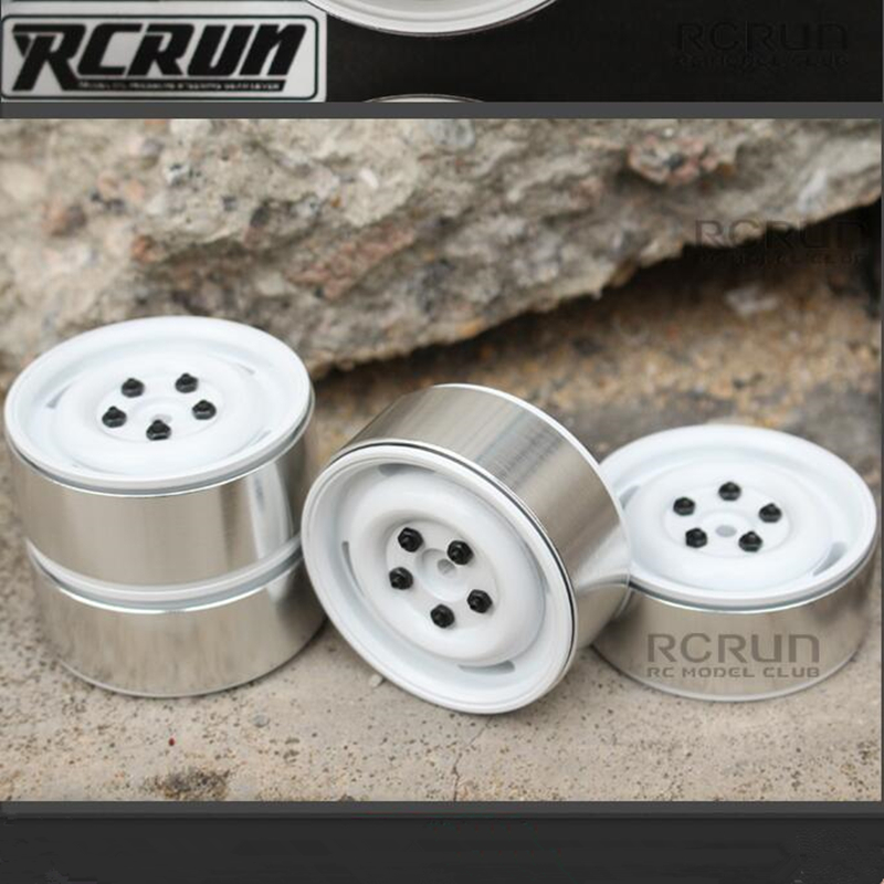 Remote control crawler car upgrade parts 4pcs 1.9 inch vintage Lock tire wheel hub for 1/10 scale rc LC80 4WD TF2 crawler truck