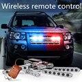 Беспроводной пульт дистанционного управления автомобиль чистая строб сигнальные лампы 4 * 6LED дневного света Пожарные EMS Полиция Грузовик Мигающий Свет