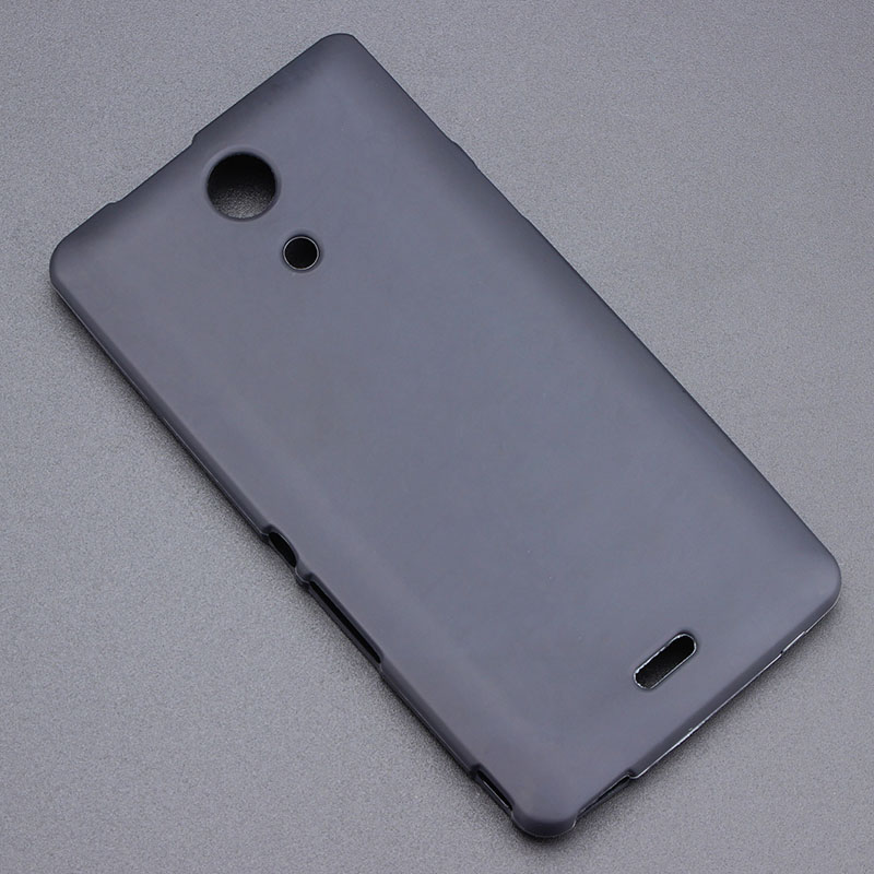 Black Gel TPU Slim Soft Anti Skiding Case Back Cover For Sony Experia ZR M36H