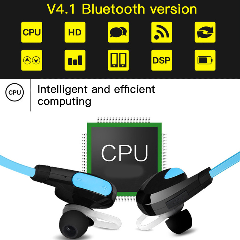 Good Sound Quality APT-X Bluetooth 4.1 Earphone Sweat Proof Headset Sport Stereo Wireless Headphones For iPhone Android 4