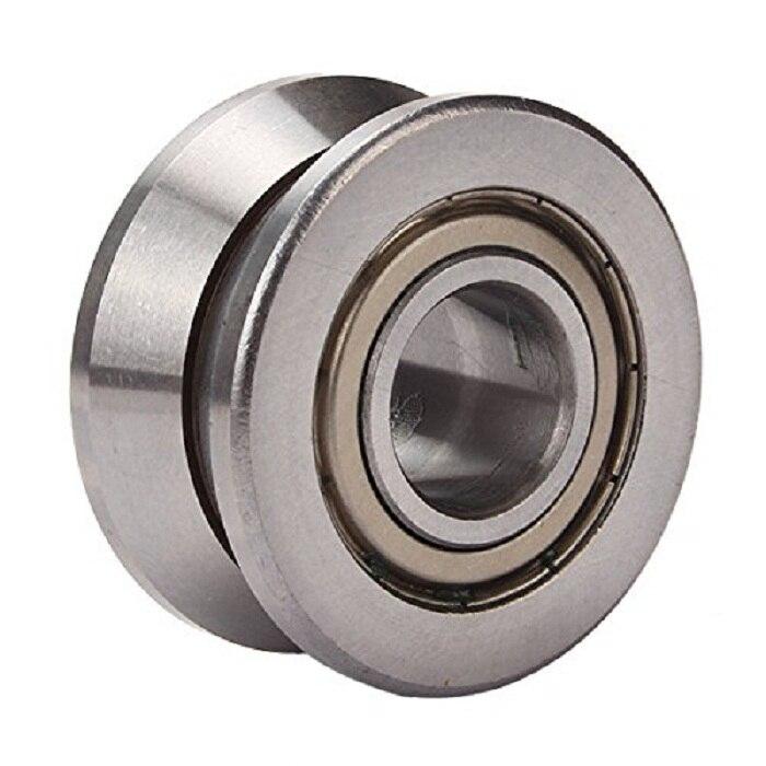 1PCS V Groove Roller Wheel 15*40*18mm Sealed Ball Track Roller Guide Vgroove Bearing Silver