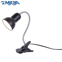 Adjustable Reading Novelty Lighting Desk Book Lights 5W E27 Led Bulb 360 Degree Twisted Flexible Metal