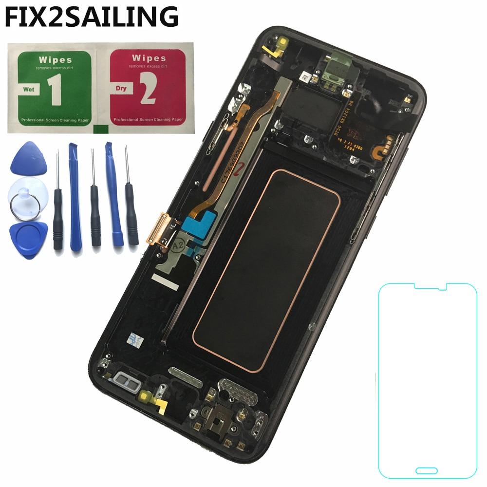 Pour Samsung Galaxy S8 Plus G955 G955F G955A G955T G9550 LCD Affichage 100% Testé Travail Écran Tactile Cadre Assemblée