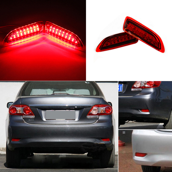1 Pair Led Rear Bumper Reflector Light For Toyota Corolla 2011-2012 For Lexus CT200h Red Bulb tail stop lamp Turn signal Brake akd car styling for toyota corolla tail lights 2014 new corolla led tail light altis rear lamp drl brake park signal