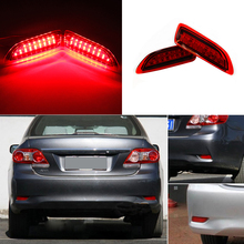 1 pair led Reflector Light for Toyota Corolla/Lexus CT200h Rear Back Tail Bumper Brake Stop Running Fog Lights car styling