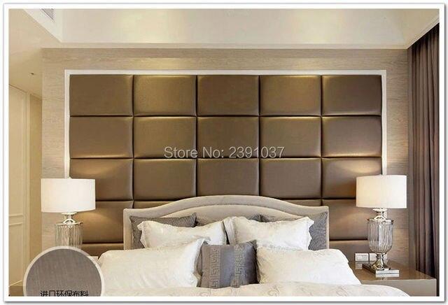 12 pcs 50 30 cm personnalis panneau de cuir pu cuir panneaux acoustiques panneau mural panneau. Black Bedroom Furniture Sets. Home Design Ideas