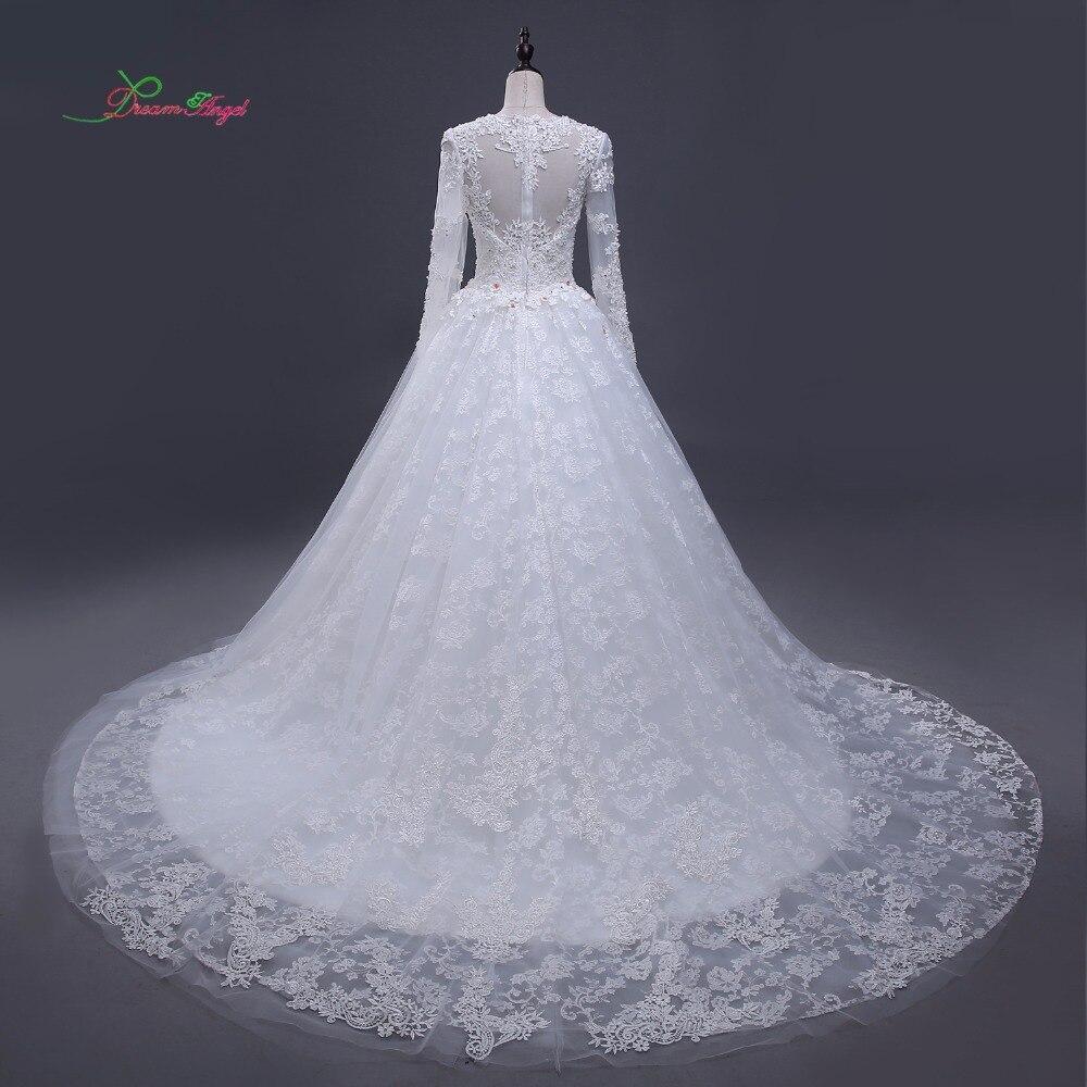 Atemberaubend Hochzeitskleid Der Langen Hülse Ideen - Brautkleider ...