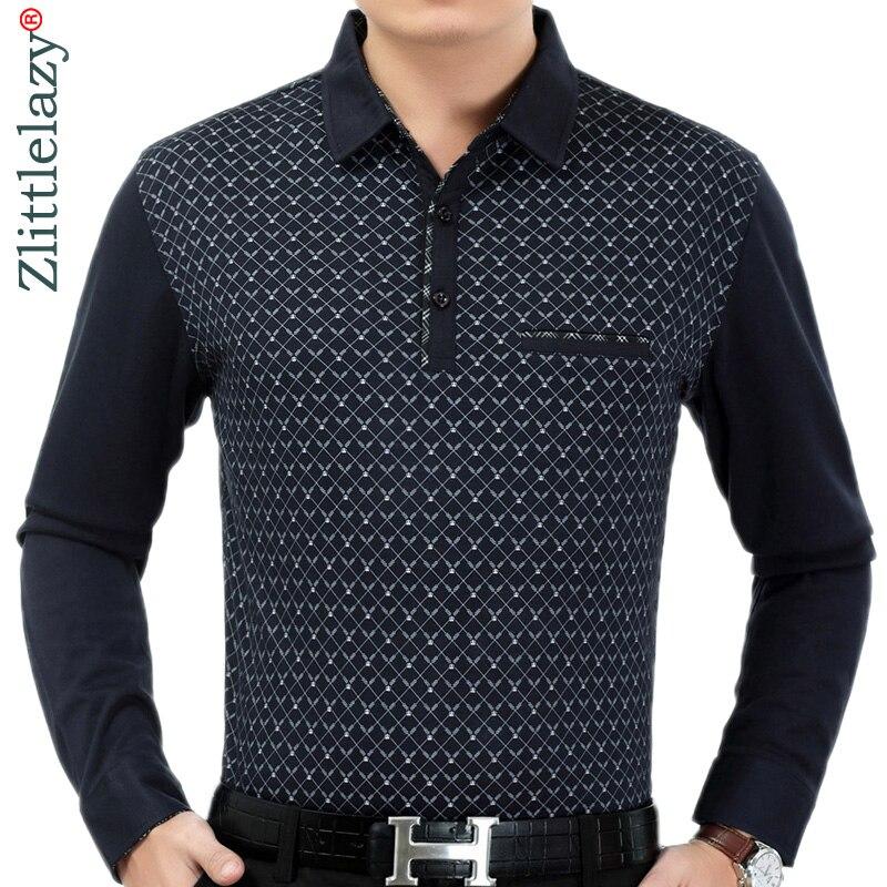 2019 hot mens clothing long sleeve   polo   shirt summer pol men argyle brands   polos   tee shirts dress streetwear male poloshirt 2182