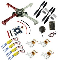 F450 FPV системы комбо Quadcopter F450 Quadcopter Рамки Rack Kit с apm2.8 6 м GPS 2212 1000kv Двигатель 30A ESC 1045 винты