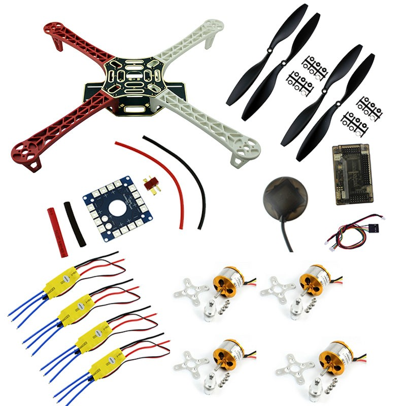 F450 FPV Combo Quadcopter F450 Quadcopter Frame Rack Kit with APM2.8 6M GPS 2212 1000KV Motor 30A ESC 1045 Propellers f02015 f 6 axis foldable rack rc quadcopter kit with kk v2 3 circuit board 1000kv brushless motor 10x4 7 propeller 30a esc