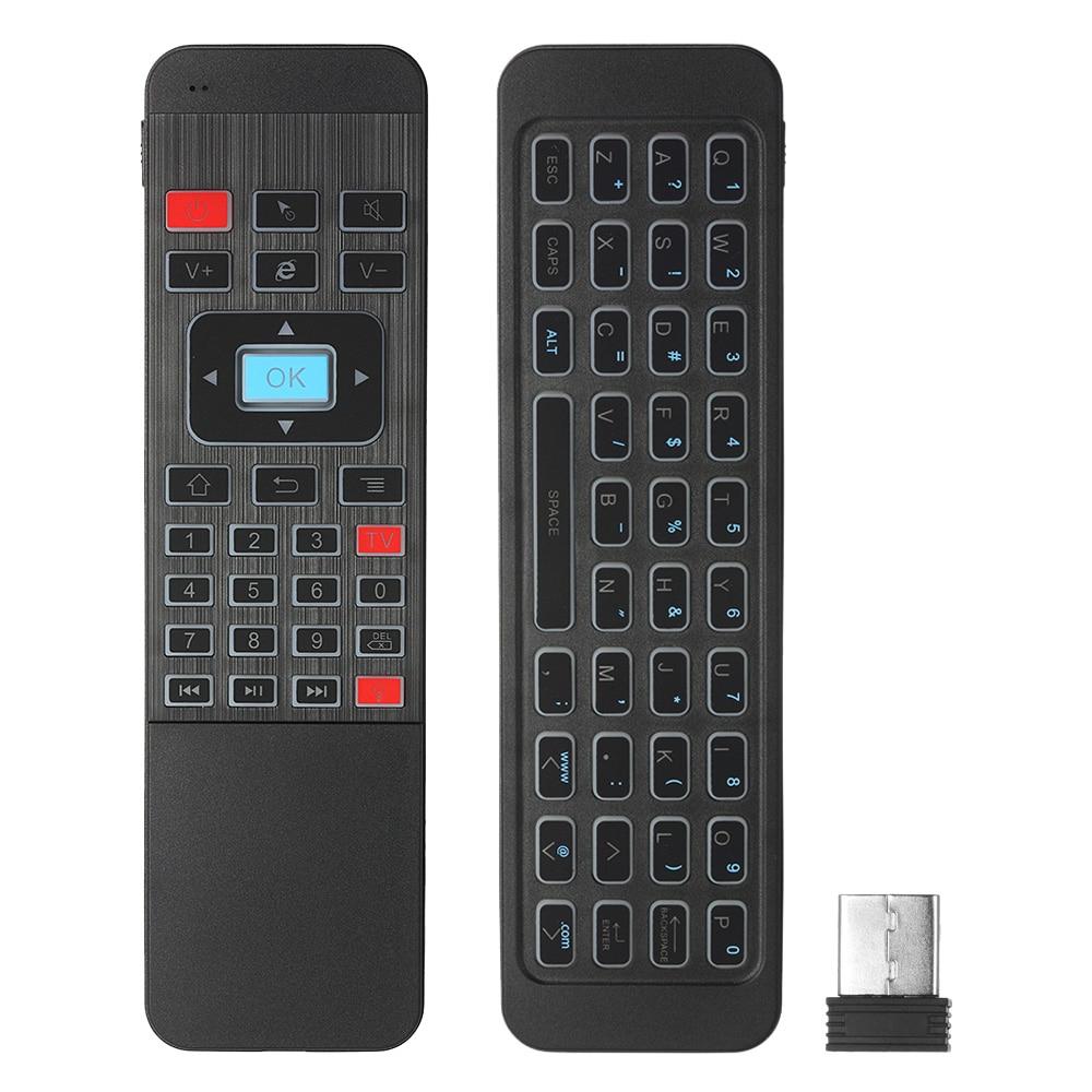 2,4g Hintergrundbeleuchtung Air Maus Drahtlose Tastatur 6-achse Sensor Fernbedienung Ir Lernen Für Smart Tv Android Tv Box Exquisite Handwerkskunst;