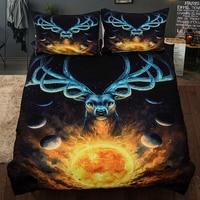 Christmas Mythical animal Elk printed Single Queen doubler sizes Deer Duvet Cover set Animal Bedclothes bedding sets new 3pcs