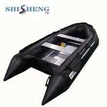 Хорошее качество, дешевые моторные лодки, черная резиновая надувная лодка/лодка с 1,2 мм ПВХ