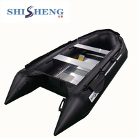 Good quality cheap motor boats black rubber inflatable boat/yachting boat with 1.2mm pvc