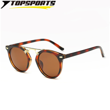 TOPSPORTS Polarized Women Shopping Sunglasses Metal PC  HD TAC Reflective round lens driving Glasses UV400 Vintage Eyeglasses