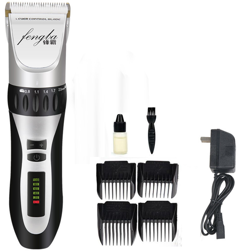 100-240v Professional Rechargeable Clipper hair trimmer men Electric cutter hair cutting machine haircut Ceramic Titanium blade kemei barber professional rechargeable hair clipper hair trimmer men electric cutter shaver hair cutting machine haircut