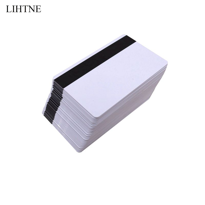 100PCS/lot 300 OE Low Resistant Magnetic Stripe Card CR80 LOCO Blank PVC Magnetic Cards 200pcs lot customable 8 4mm mag stripe 2 track pvc smart ic card for iso hi co 2750 3000 4000 oe