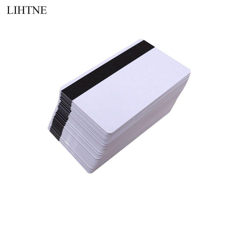 100PCS/lot 300 OE Low Resistant Magnetic Stripe Card CR80 LOCO Blank PVC Magnetic Cards sme 8m zs 24v k 0 5 oe 543892 sme 8m ds 24v k 2 5 oe 543862 festo magnetic switch