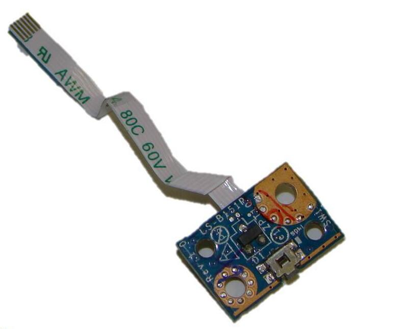 NOKOTION 755733-001 for hp laptop 11-n TouchSmart Series X360 Power Button Board Cable LS-B151P nokotion 434722 001 laptop motheboard for hp dv6000 intel 945pm nvidia gf go7400 b n a3 graphics ddr2