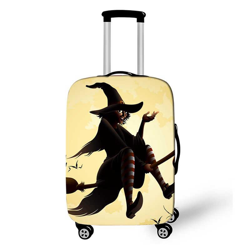 Halloween Penyihir Trolley Koper Pelindung Cover Cocok 18-28 Inch Bagasi Koper Penutup Debu Aksesoris Perjalanan