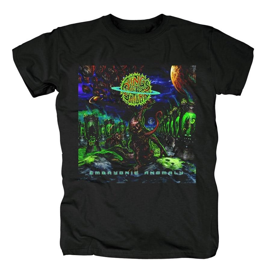 15 дизайнерских колец Сатурн инопланетянин группа рок брендовая рубашка Hardrock heavy thrash Metal deathcore хлопковая Футболка camiseta уличная одежда - Цвет: 10