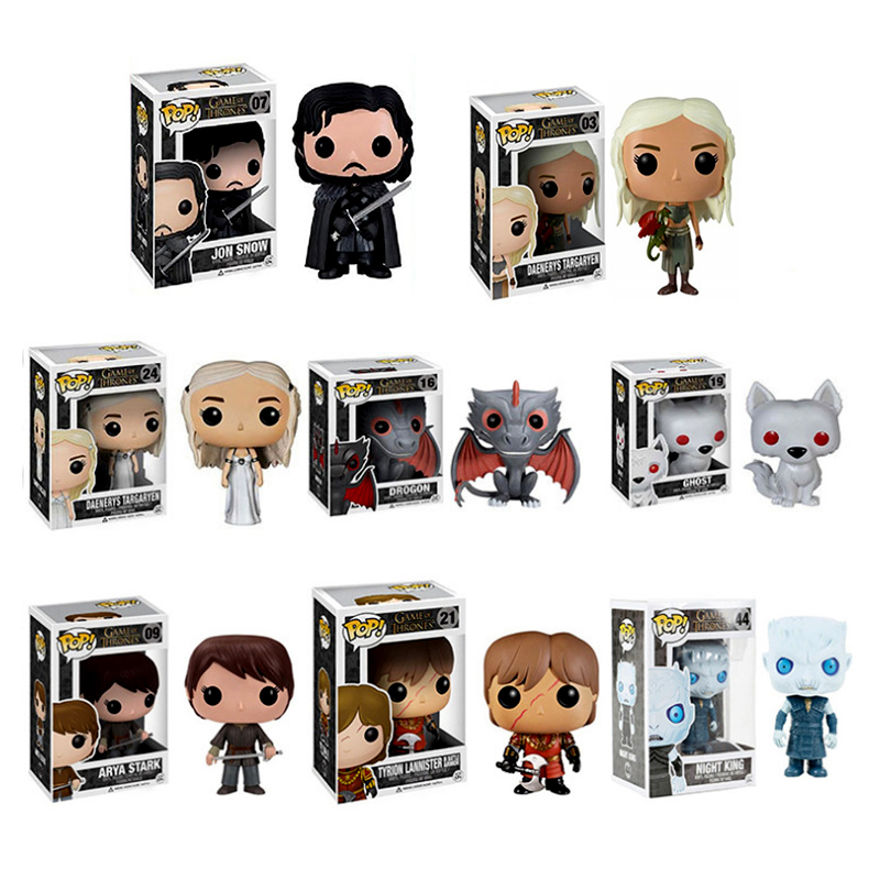 Boys Girls Game of Thrones Figure Toy Cosplay Daenerys Targaryen Jon Snow Gragon Night's King Carnival Christmas New Year Gift